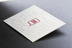 Business cards of letterpress