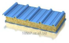 Roofing a sandwich panel from mineral wool