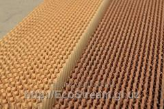 Corrugation of the panel of vaporizing type for