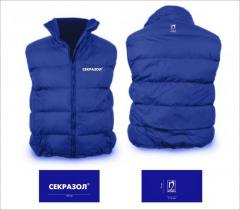 We accept orders for talstovki vests and jackets