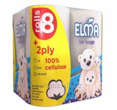 Туалетная бумага 2х-слойная Elma-Ultrasoft 8