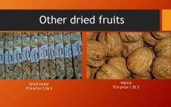 Грецкие орехи и сушеная дыня