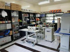 Запчасти, инвентарь и расходные материалы для швейного производства.