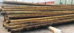 Столбы ЛЭП деревянные, пропитанные, 11 метров