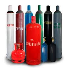 Баллоны технического газа (кислород, ацетилен, аргон, углекислый газ)
