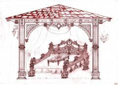 Садовая кровать вид 11