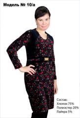 Czarna sukienka w czerwone kwiecie