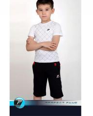 Комплект : Футболка в клетку белая и шорты