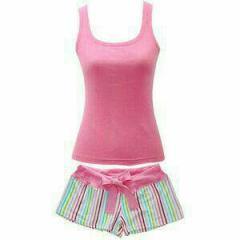 Женская пижама с шортами светло-розового...