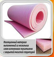 Insulating mats from the made foam polyethylene