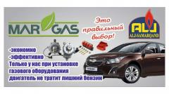 Auto gas apparatuur