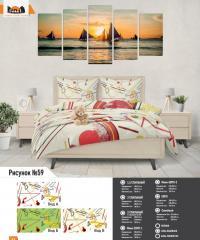 Комплект постельного белья рисунок №59
