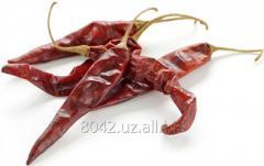 Красный, горький сушеный перец