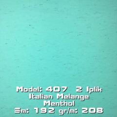Model: 407 2 Iplik Italian Melange Menthol