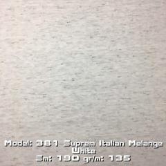 Model: 381 Suprem Italian Melange White