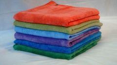 Махровые банные полотенца 70x140, х/б