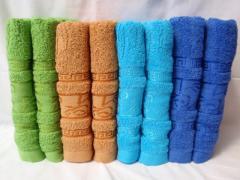Махровые банные полотенца х/б, 70x140
