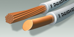 Провод с медной жилой с поливинилхлоридной изоляцией повышенной гибкости