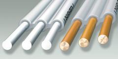Провод – с алюминиевой и медной жилой с поливинилхлоридной изоляцией, плоский с разделительным основанием