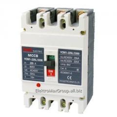 Автоматический выключатель YCM1-100L 3P (80A~100A)