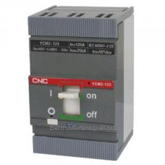 Автоматический выключатель YCM2-125S 3P (63A~125A)