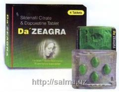 Дапоксетин-Силденафил Da ZEAGRA таблетки для повышения потенции (4 таб.) в Ташкенте