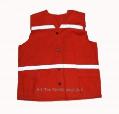 Vest signal with reflective tape