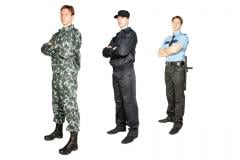 Suits of the security guard