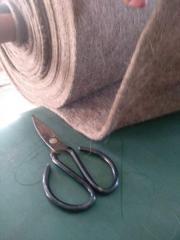 Нетканый материал из бараньи шерсти