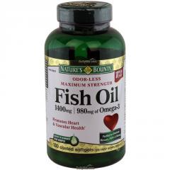 Рыбий жир Nature's Bounty 1400 мг 130 капсул