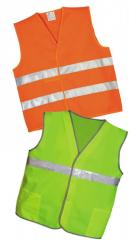 The vest is alarm, a suit for employees of road