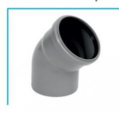 Канализационный отвод 45 градусов (Ø100)