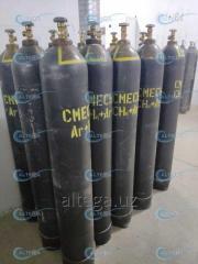 Газовая смесь для лазеров (5%СО2+60%Не+35%N2)