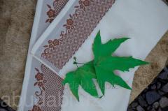 Полотенце кухонное махра Abu Dabi цветочный узор