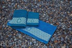 Полотенце махровое Abu Dabi синий узор
