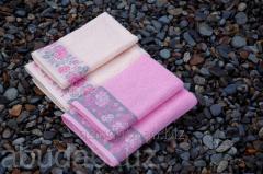 Полотенце махровое Abu Dabi розовых оттенков