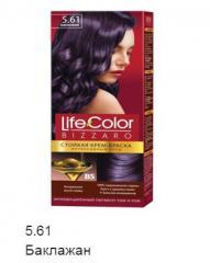 Краска для волос Life color баклажан