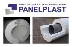 Теплоизоляционная оболочка для труб (скорлупа из