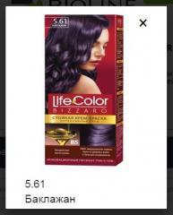 Краска для волос Life color баклажан Bioline