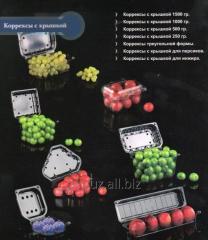 Контейнеры 250 г, 500 г, 1000 г,  из ПЭТ для фруктов и овощей
