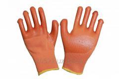 Перчатки Утепленные оранжевые 300#