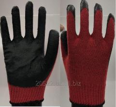 Перчатки ХБ «Корея» с латексным покрытием