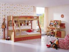 Двухъярусная кровать Оливер из дерева