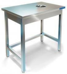 Столы производственные для сбора отходов