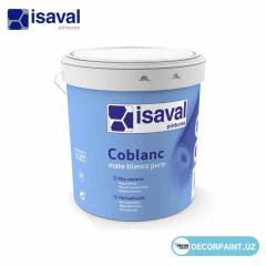 Краска интерьерная белоснежная белизна ISAVAL COBLANC