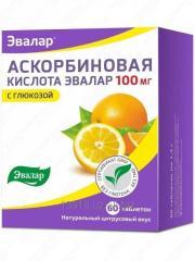 Аскорбиновая кислота 100 мг №60. Таблетки с натуральным цитрусовым вкусом.