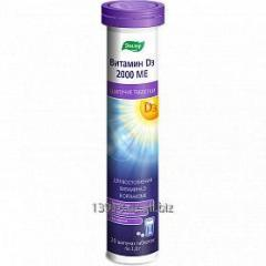 Витамин D3 2000 МЕ, шипучие таблетки №20