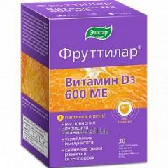 БАД ФРУТТИЛАР® Витамин Д3, жевательные пастилки в форме мармеладных ягод №30 по 4,0 г