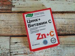 БАД Цинк + Витамин С, таб. №50