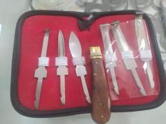 Нож копытный в комплекте с 5 лезвиями